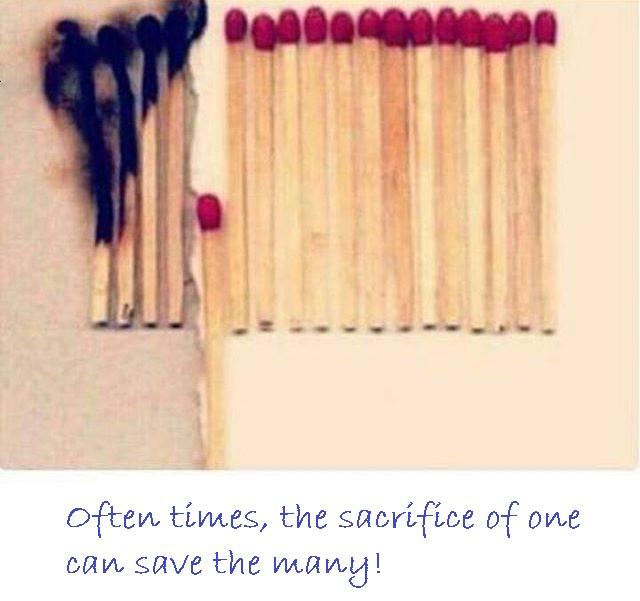the sacrifice of one